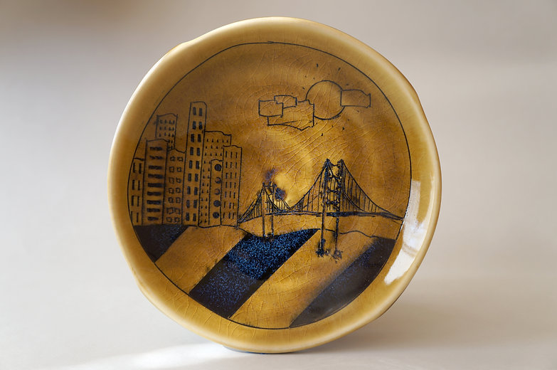 Porcelain Imagery Plate ceramic art