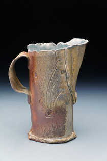 Woodfired Stamped Pitcher ceramic art