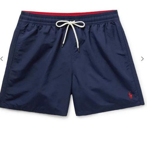 POLO RALPH LAUREN Traveler Mid-Length Swim Shorts NAVY