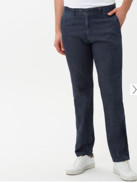 EUREX by Brax: Jeans sportif BLUE TAILLE COURTE sans pinces denim estiva