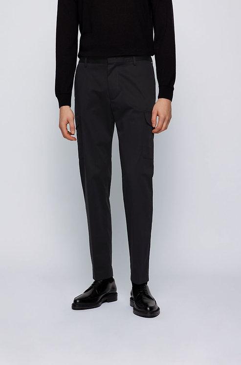 HUGO BOSS: Pantalon cargo Slim Fit en satin de coton stretch 11119