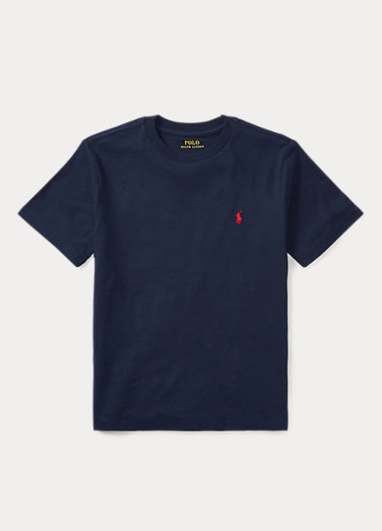 POLO RALPH LAUREN JUNIOR T-shirt NAVY en jersey