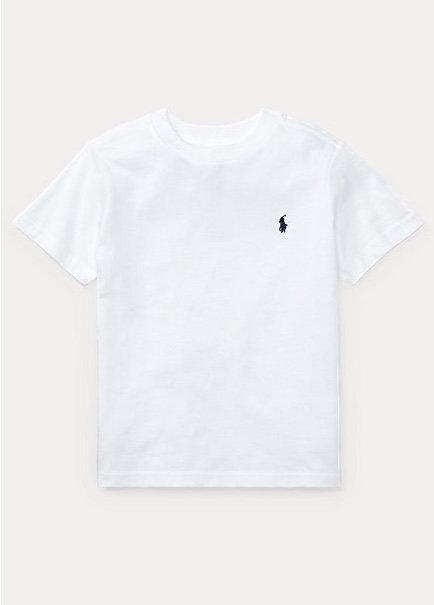 POLO RALPH LAUREN JUNIOR T-shirt BLANC en jersey