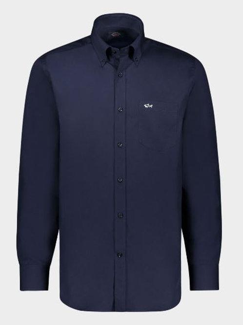Chemise PAUL&SHARK, NAVY, 100%Coton Popeline Regular Fit