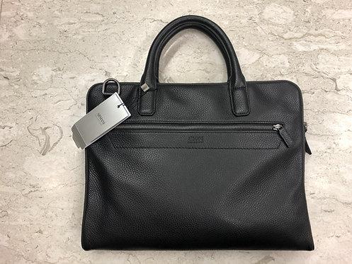 ARMANI: Sac, cuir veritable 'bottolato', Made in Italy, noir, 71165