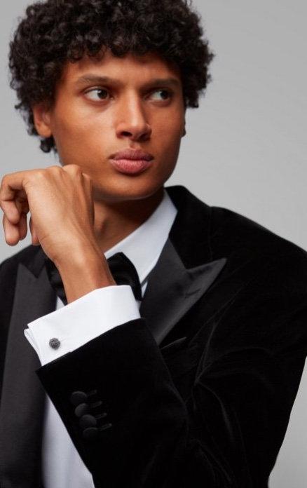 HUGO BOSS Chemise SMOKING col NORMALE Slim Fit en pur coton