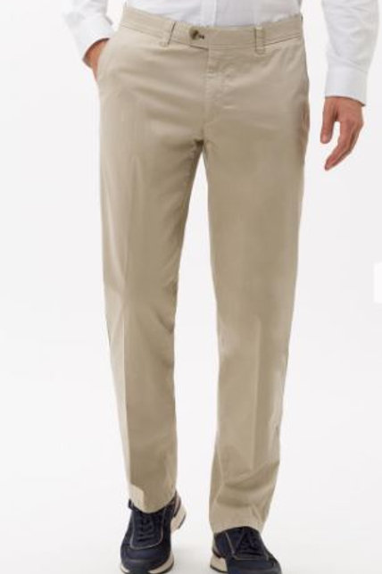 EUREX : Pantalon chino beige, TAILLE COURTE en qualité Luxury Cotton 54-1707-57