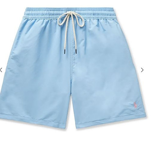 POLO RALPH LAUREN Traveler Mid-Length Swim Shorts CIEL