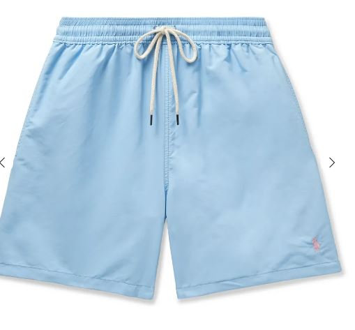 POLO RALPH LAUREN Traveler Mid-Length Swim Shorts CIEL