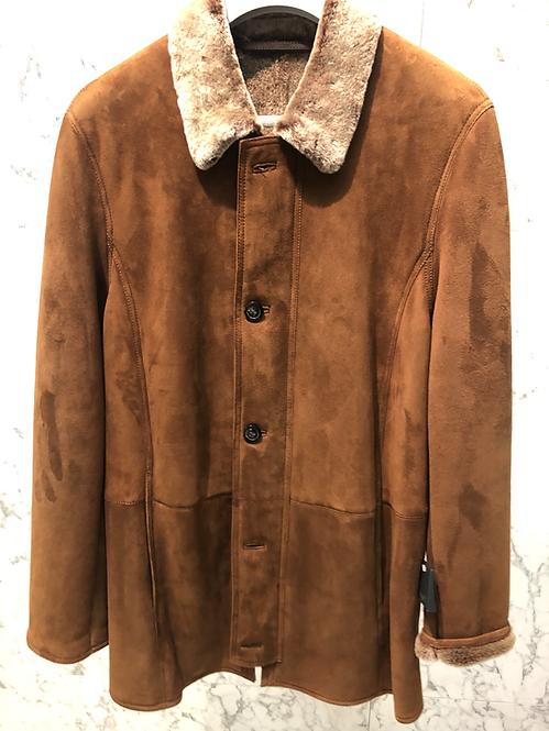 EXCELSIOR: Mouton retourné, soft ,velours lisse, cognac 22145