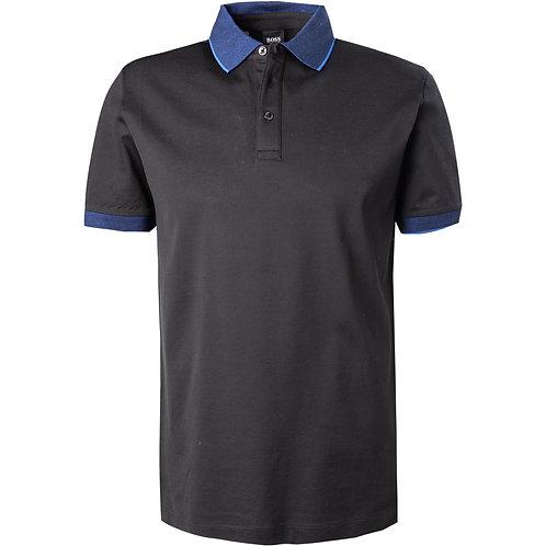 HUGO BOSS: Polo Regular Fit en coton, NOIR 11102