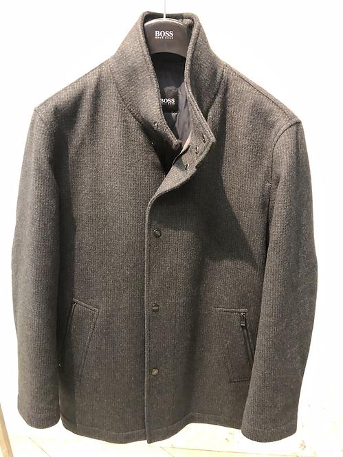 HUGO BOSS: Veste Caban, pure laine, gris, petite structure pied poule 02203