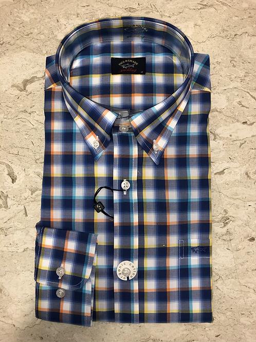 PAUL&SHARK: chemise à manches longues, carreaux plusieurs couleurs 11145