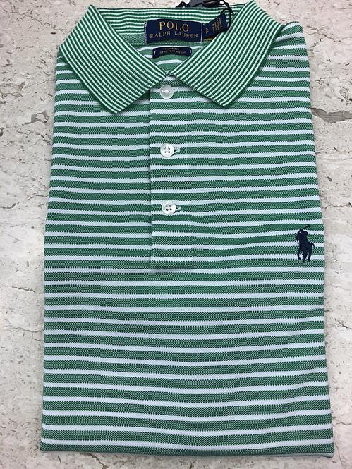 POLO RALPH LAUREN: POLO, cotton stretch, rayures vert, 11127g