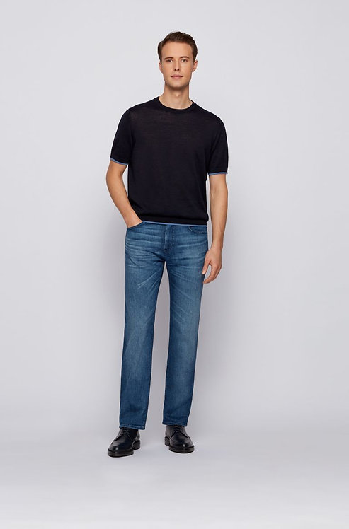 HUGO BOSS: Jean Regular Fit en denim bleu clair très doux 11118