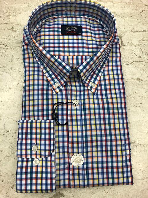 PAUL&SHARK: chemise manches longues,avec carreaux multi, 11145b