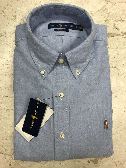 POLO RALPH LAUREN: Chemise 100 cotton chambray, JEANS, 02260