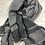 Thumbnail: ARMANI: Grande Echarpe en laine, Grise 42048e