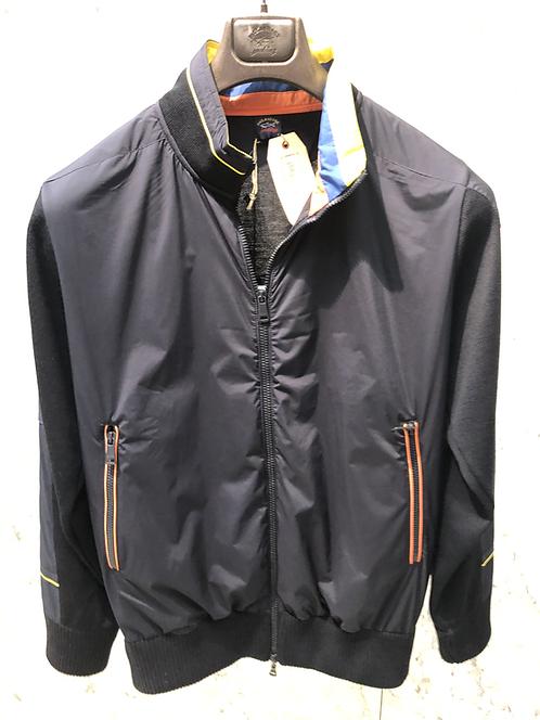 PAUL&SHARK: Cardigan, HERITAGE, navy,laine water-resistant 92319