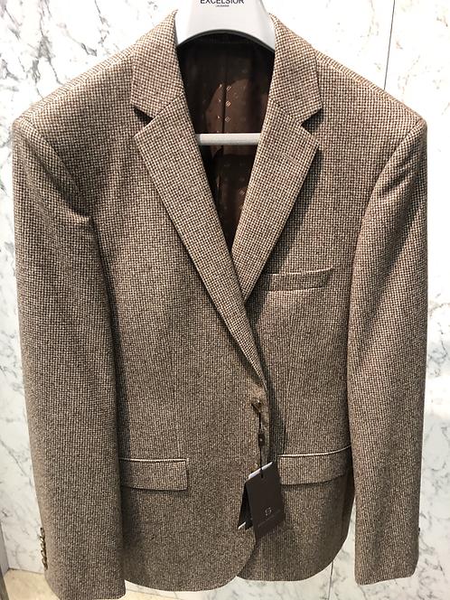 HUGO BOSS: Veston, pure laine Gr.340, petit pied poule Brun 22608