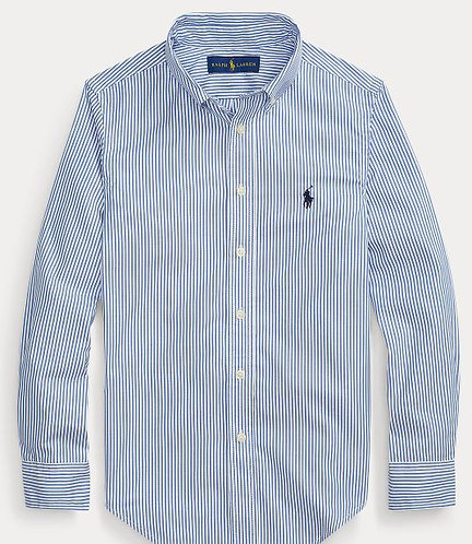POLO RALPH LAUREN JUNIOR Chemise Oxford RAYEE ajustée