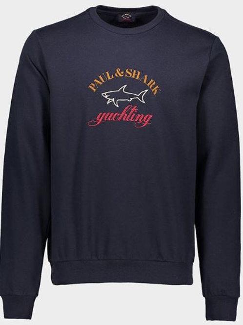 PAUL&SHARK: Sweatshirt en coton organique avec logo brodé trois couleurs