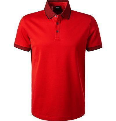HUGO BOSS: Polo Regular Fit en coton, ROUGE 11102E