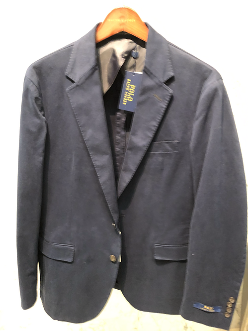 POLO RALPH LAUREN: Veston Blazer, cotton stretch, non doublé, NAVY, 02265
