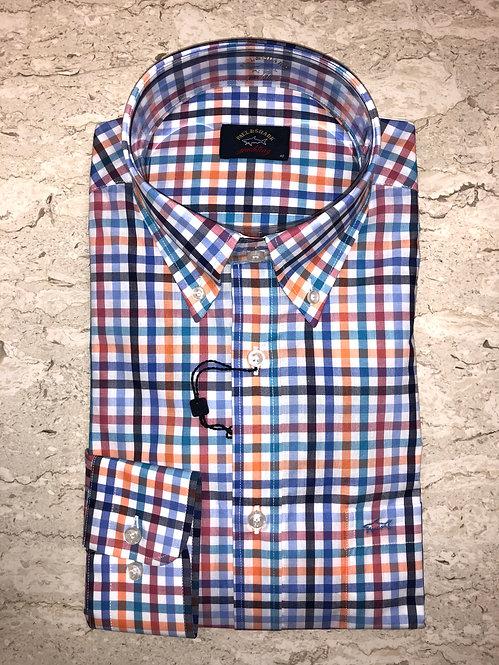 PAUL&SHARK: chemise manches longues,avec carreaux multi, 11146c