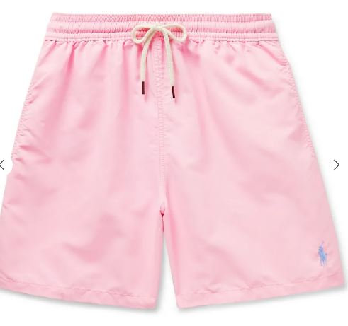 POLO RALPH LAUREN Traveler Mid-Length Swim Shorts PINK ROSE