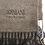 Thumbnail: ARMANI: Echarpe en laine, noire&taupe 12365b