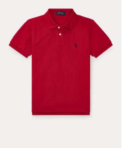 POLO RALPH LAUREN JUNIOR polo RED en jersey