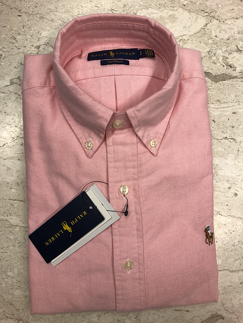 POLO RALPH LAUREN: Chemise 100 cotton oxford, rose, 0261c