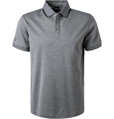 HUGO BOSS: Polo Regular Fit en coton, GRIS 11102C