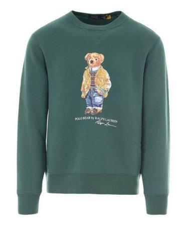 Polo Raplh Lauren Bear Printed Sweatshirt, VERT 11129D