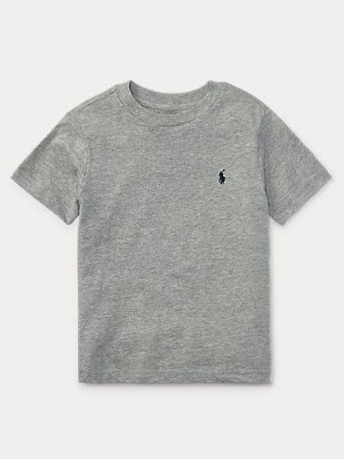 POLO RALPH LAUREN JUNIOR T-shirt NAVY en jersey