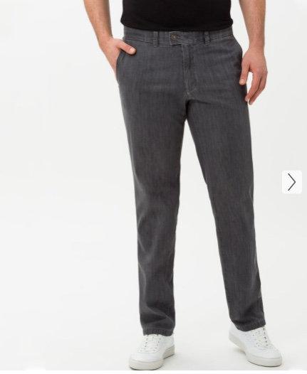 EUREX by Brax:Jeans sportif GRIS TAILLE COURTE sans pinces denim estival léger