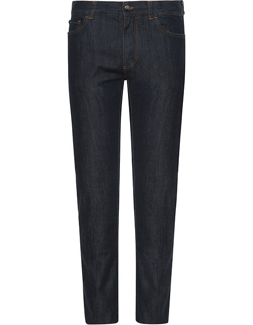 CANALI DARK WASH STRETCH DENIM 5-POCKET JEANS 92236