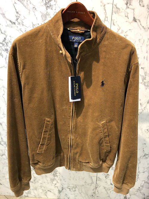 POLO RALPH LAUREN: Blouson, cotton velour, rustic beige brandy,01123