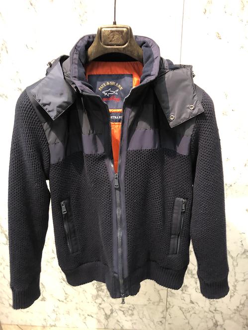 PAUL&SHARK: Cardigan,doublé avec poches, laine water-reppelent , NAVY, 92310