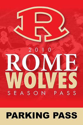 2010 Rome Wolves Season Parking Pass