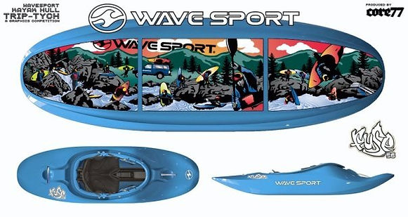 Wave Sport Kayak with graphic design