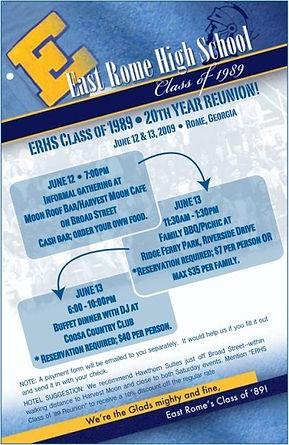 East Rome High School 20th Class Reunion