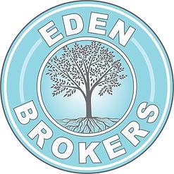 Eden Brokers Logo circular design with a tree in the center