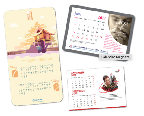Customized Magnetic Calendars