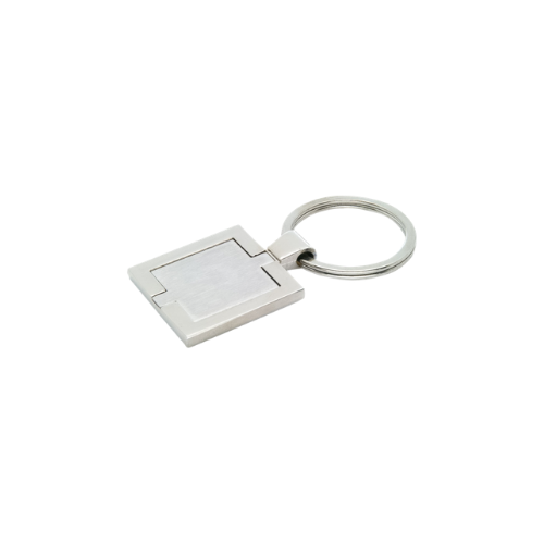 Branded Square Metal Keychains