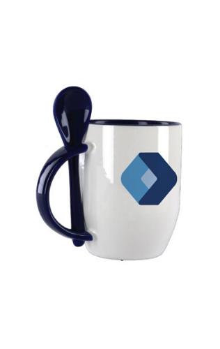 Ceramic Mugs with Spoons