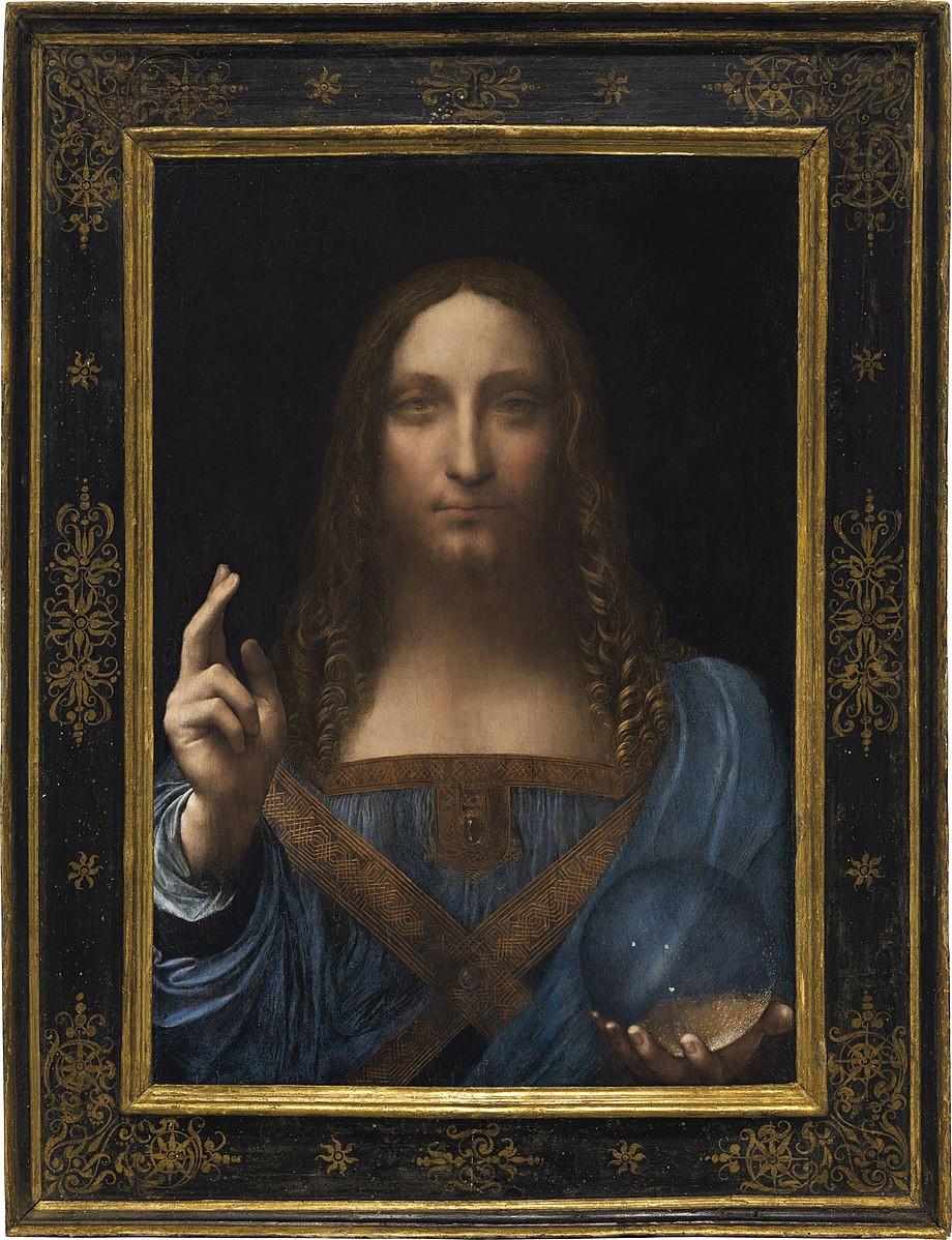 This image shows the painting Salvador Mundi by Leonardo Da Vinci