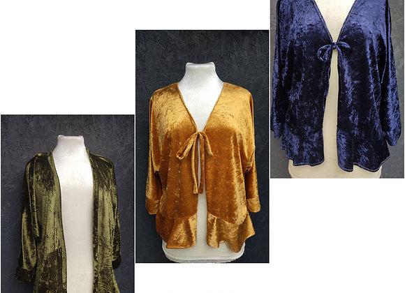 Crushed Velvet Kimonos