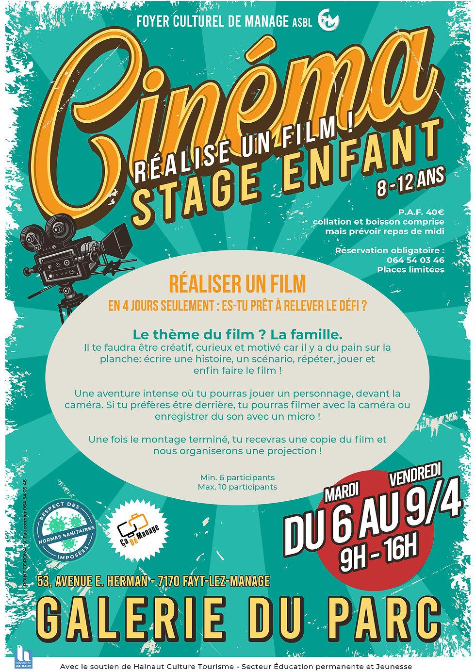 Stage enfant cinéma